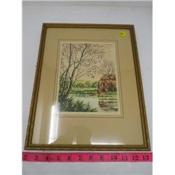 PRINT (COUNTRYSIDE SCENIC-SIGNED) *FRAMED*