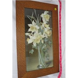 PRINT (DAFFODILS AND IVY-SIGNED) *FRAMED*
