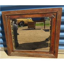WALL MIRROR (WITH WOODEN FRAME)