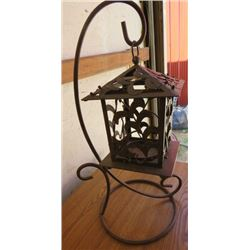 """WROUGHT IRON CANDLE HOLDER (19"""" HIGH)"""