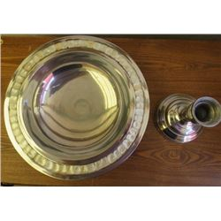 MOTHER OF PEARL SILVER CENTERPIECE BOWL (TOWLE SILVERSMITHS SINCE 1640) *COMES WITH BOX*