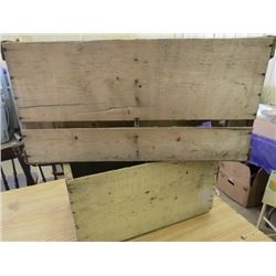 LOT OF 2 WOOD CRATES