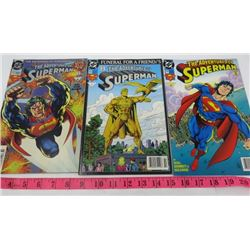 LOT OF 3 COMIC BOOKS (ADVENTURES OF SUPERMAN) *1993 #7* (1993 #31) (1994 #39*