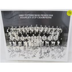 HOCKEY MEMORABILIA (1992 PITTSBURGH PENGUINS AUTOGRAPHED)
