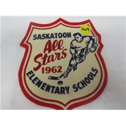 HOCKEY PATCH (SASKATOON ALLSTARS) *1962*