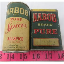 LOT OF 2 TINS (NABOB COFFEE)