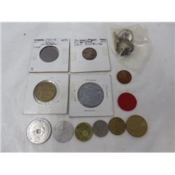 LOT OF MISC COINS AND TOKENS
