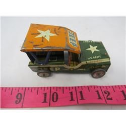 TOY JEEP (US ARMY) *TIN*