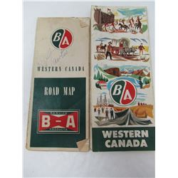 LOT OF B.A. ROAD MAPS (VINTAGE)