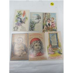 LOT OF CARDS AND ADVERTISING (1800'S SEWING MACHINE, ETC)