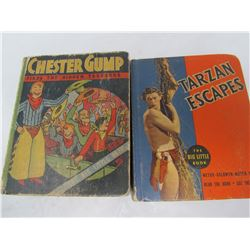 LOT OF 2 BIG LITTLE BOOKS (TARZAN, CHESTER GUMP)