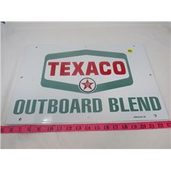 TEXACO OUTBOARD OIL SIGN (PORCELAIN)