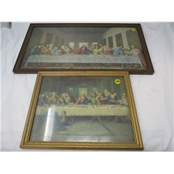 LOT OF 2 LAST SUPPER PRINTS