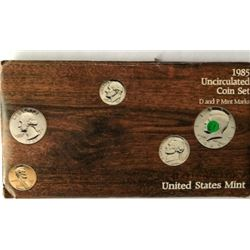 LOT OF TWO -1985 UNC US COIN SETS  (EACH SET HAS TWO COMPLETE SETS OF DENVER & PHI. MINTS WITH PAPE