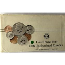 LOT OF TWO -1988 UNC US COIN SET (EACH SET HAS TWO COMPLETE SETS OF DENVER & PHI. MINTS WITH PAPER