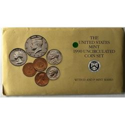 LOT OF TWO -1990 UNC US COIN SETS  (EACH SET HAS TWO COMPLETE SETS OF DENVER & PHI. MINTS WITH PA