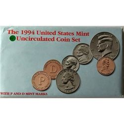 LOT OF TWO -1994 UNC US COIN SET (EACH SET HAS TWO COMPLETE SETS OF DENVER & PHI. MINTS WITH PAPERS