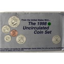 LOT OF TWO -1998 UNC US COIN SET (EACH SET HAS TWO COMPLETE SETS OF DENVER & PHI. MINTS WITH PAPERS