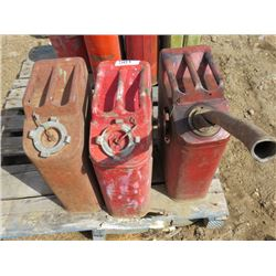 LOT OF 3 GAS CANS