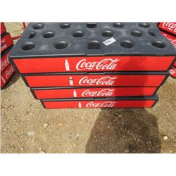 LOT OF 4 COCA-COLA SUPPORT BLOCKS (GREAT ADVERTISING) *USED FOR COOLER SUPPORT OR PROMOTIONS*