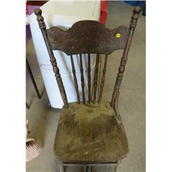 WOOD CHAIR (NEEDS WORK)