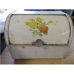 BREAD BOX (METAL) *WITH FLOWER DESIGN*