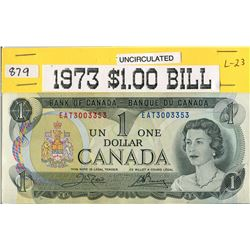 ONE DOLLAR BILL (1973) *CANADA*