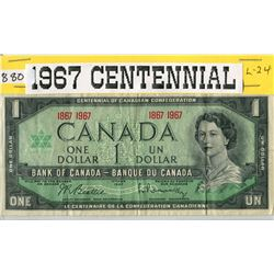ONE DOLLAR BILL (1967) *CANADA*  (CENTENNIAL)