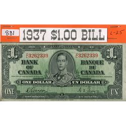ONE DOLLAR BILL (1937) *CANADA*