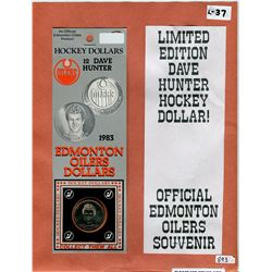 LOT OF 2 EDMONTON OILERS HOCKEY DOLLARS (1983) *12 DAVE HUNTER*