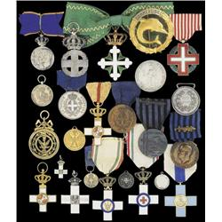 A quantity of small medals, souvenirs etc, includ