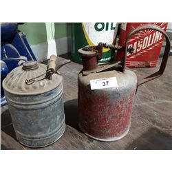 TWO VINTAGE FUEL CANS
