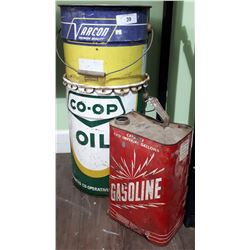 VINTAGE CO-OP, VARCON & GASOLINE CAN