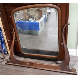 ANTIQUE MIRROR W/HARP