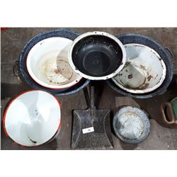 8 PIECES OF GRANITE WARE
