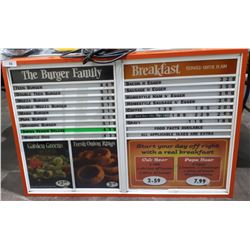 A&W LIGHT UP MENU BOARD