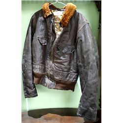 VINTAGE LEATHER BOMBER STYLE JACKET