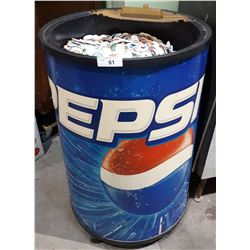 PEPSI ROLLING ICE CHEST W/THOUSANDS OF POGS