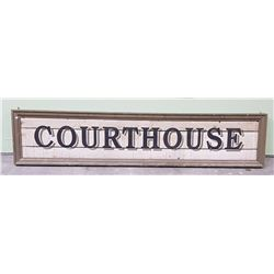 CUSTOM WOOD COURTHOUSE SIGN-MOVIE PROP