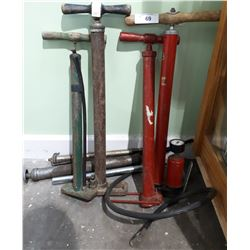 SEVEN VINTAGE BICYCLE HAND PUMPS