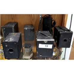 6 PC ANTIQUE BOX CAMERAS