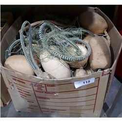 BOX OF VINTAGE FISH NET FLOATS