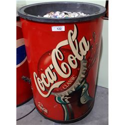 COCA COLA CLASSIC ICE CHEST W/THOUSANDS OF POGS