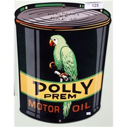 POLLY MOTOR OIL METAL SIGN