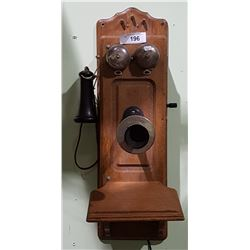 ANTIQUE KELLOG HAND CRANK TELEPHONE