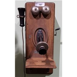 ANTIQUE VOTE-BERGER CO. WALL PHONE