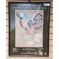1983 WORLD CHAMPIONSHIP BOXING POSTER FROM VANCOUVER, BC