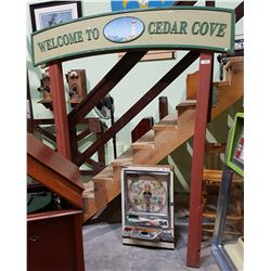 CUSTOM DOUBLE SIDED WELCOME TO CEDAR COVE PIER SIGN