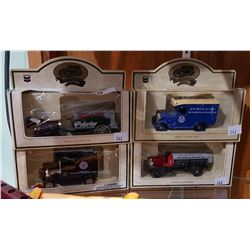 4 CHEVRON DIE CAST COLLECTIBLE TRUCKS