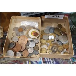 TWO SMALL BOXES WORLD COINS